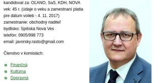 rastislav javorsky poslanec